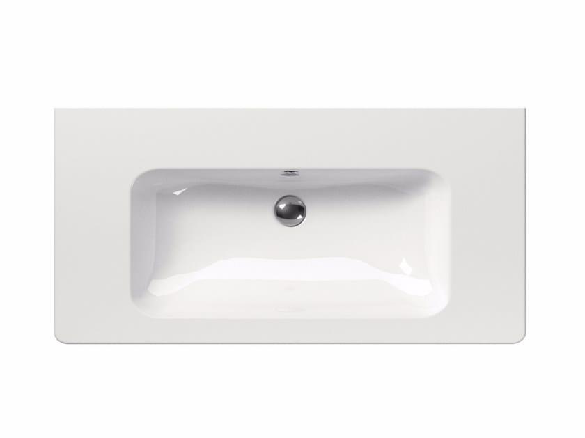 Washbasin with overflow PURA 100 | Washbasin by GSI ceramica