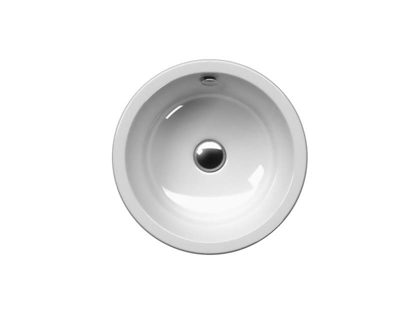 Countertop round washbasin PURA 42T | Countertop washbasin by GSI ceramica