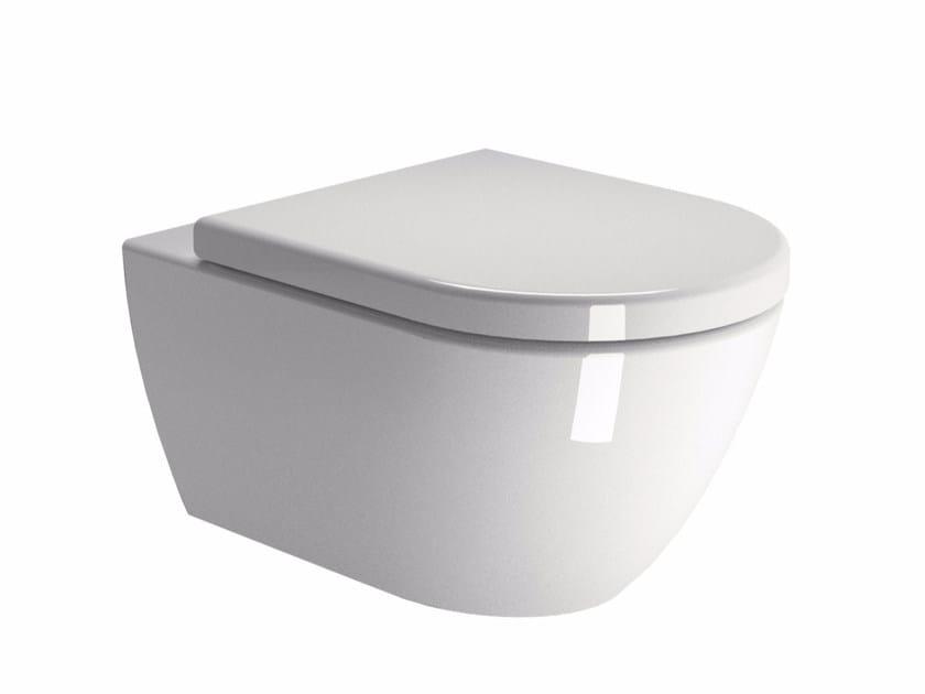 Wall-hung ceramic toilet PURA 55   Wall-hung toilet by GSI ceramica