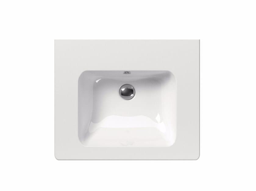 Rectangular washbasin PURA 60   Washbasin by GSI ceramica