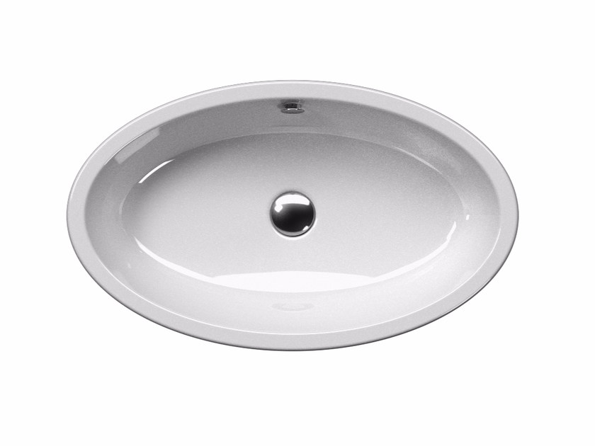 Countertop oval washbasin PURA 70/T | Countertop washbasin by GSI ceramica