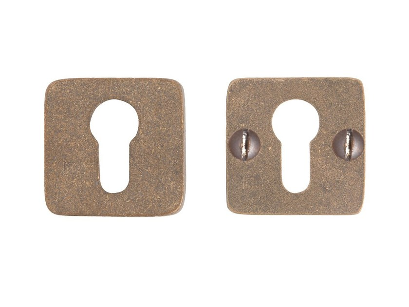 Square bronze keyhole escutcheon PURE 14507 by Dauby