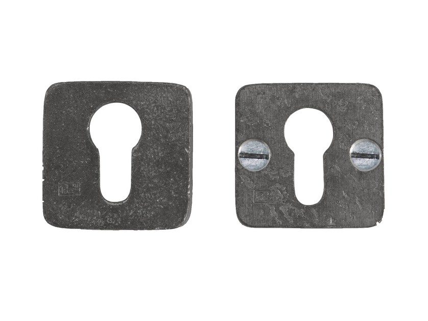 Square metal keyhole escutcheon PURE 14888 by Dauby