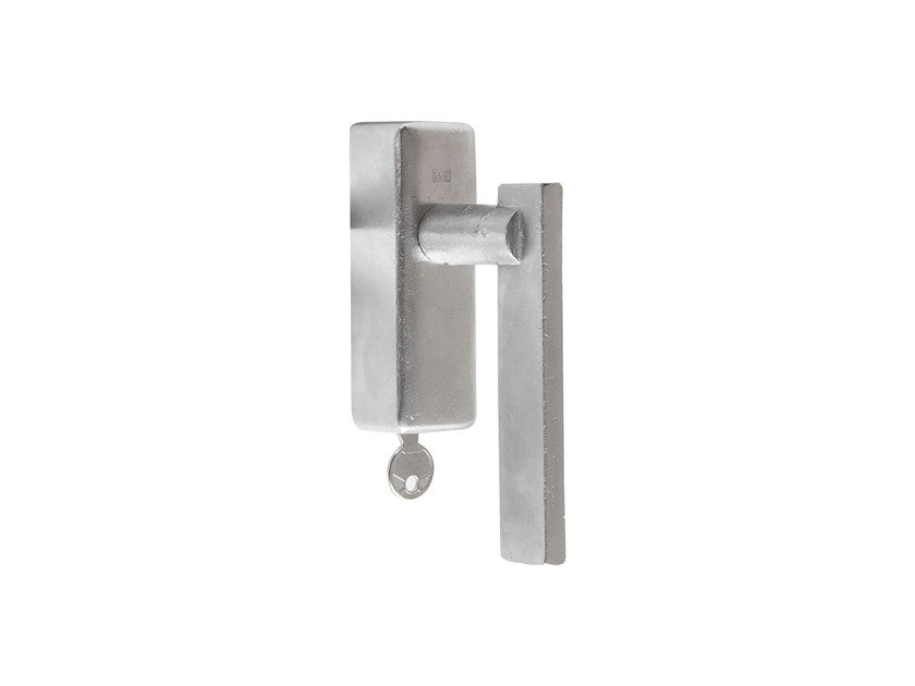 Bronze window handle with lock PURE 17050 by Dauby