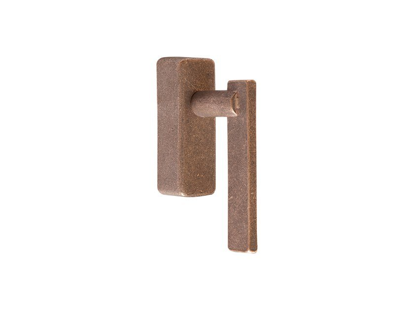 Bronze window handle with lock PURE 17051 by Dauby