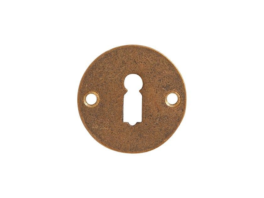 Round bronze keyhole escutcheon PURE 17096 by Dauby