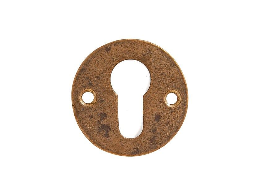 Round bronze leaf keyhole escutcheon PURE 17101 by Dauby