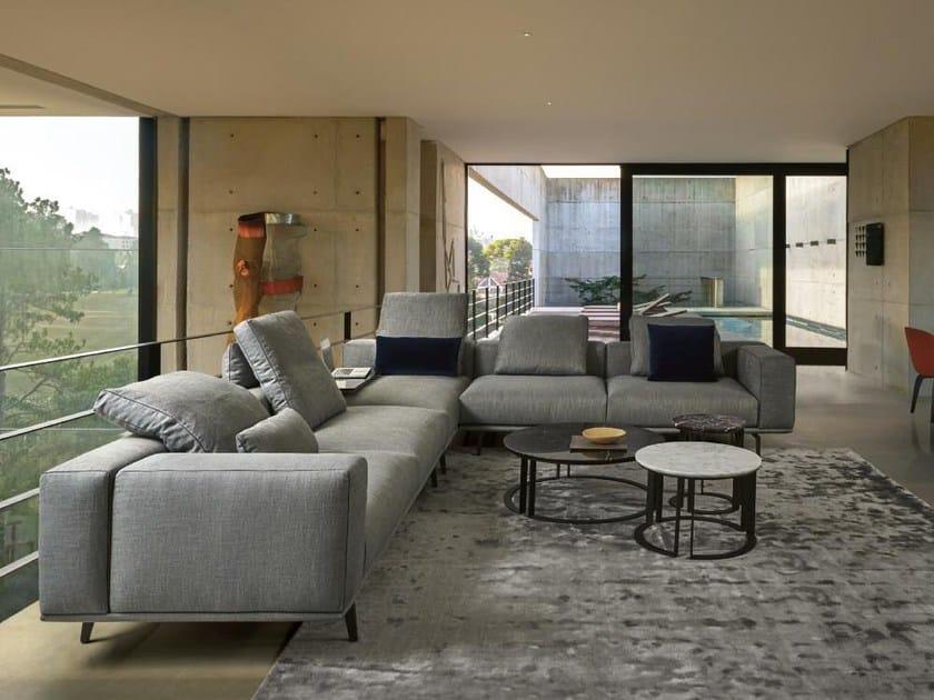 Corner fabric sofa with removable cover PURE   Corner sofa by Papadatos