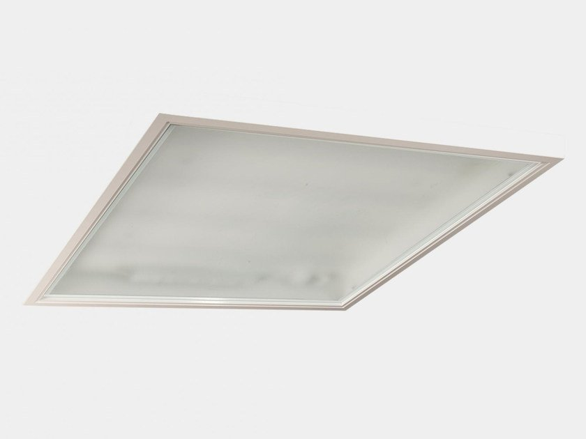 Recessed glass ceiling lamp PURE | Glass ceiling lamp by ES-SYSTEM