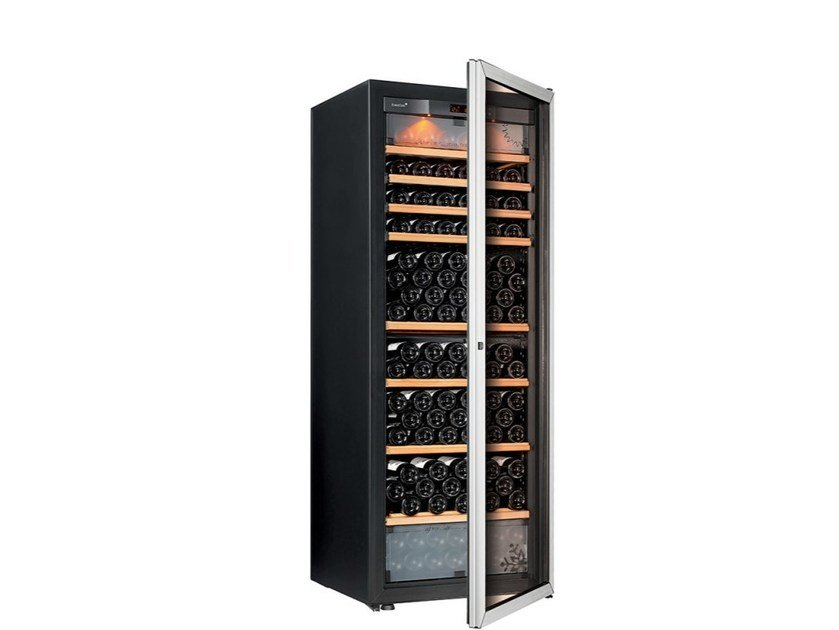 Freestanding Wine Cooler With Built In Lights Pure Large Glass