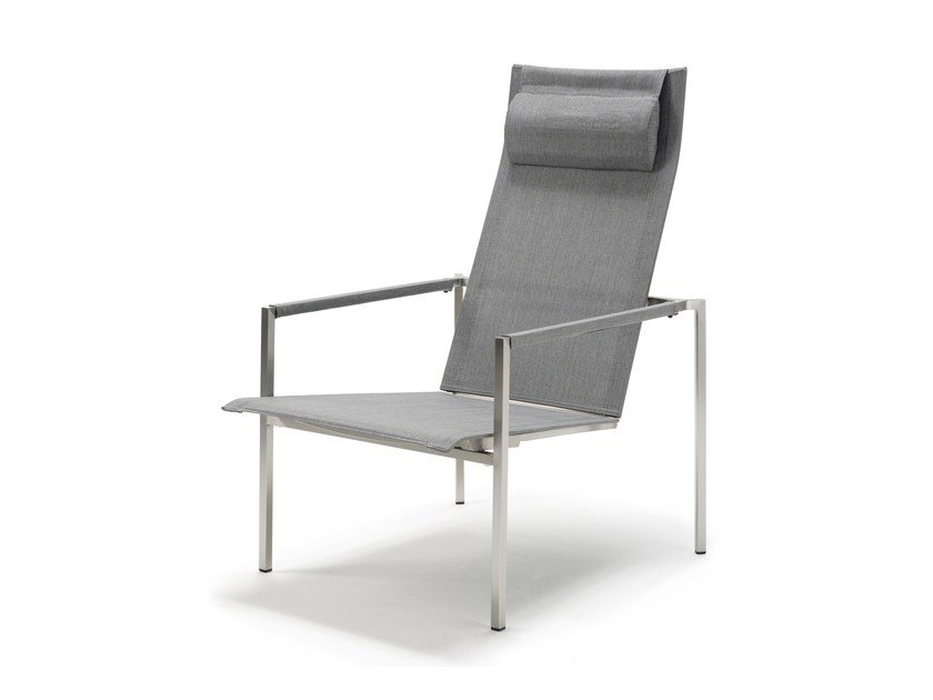 Recliner High Back Chair With Armrests PURE STAINLESS STEEL | Recliner Chair  By Solpuri