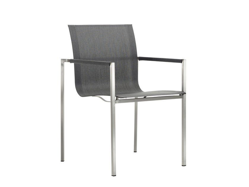 Stackable chair with armrests PURE STAINLESS STEEL   Stackable chair by solpuri
