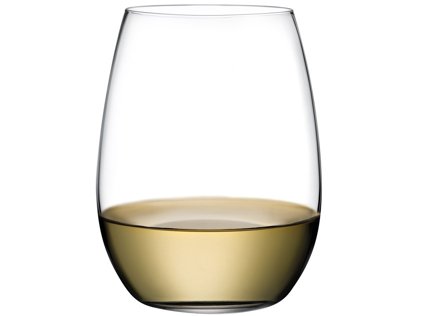 Set of 4 White Wine Glasses PURE WHITE by NUDE
