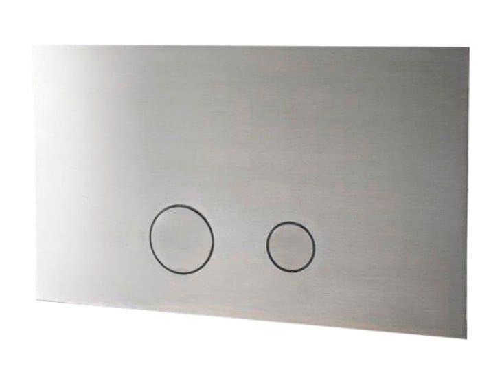 Placca di comando per wc in acciaio inox PURO 500 by Linki