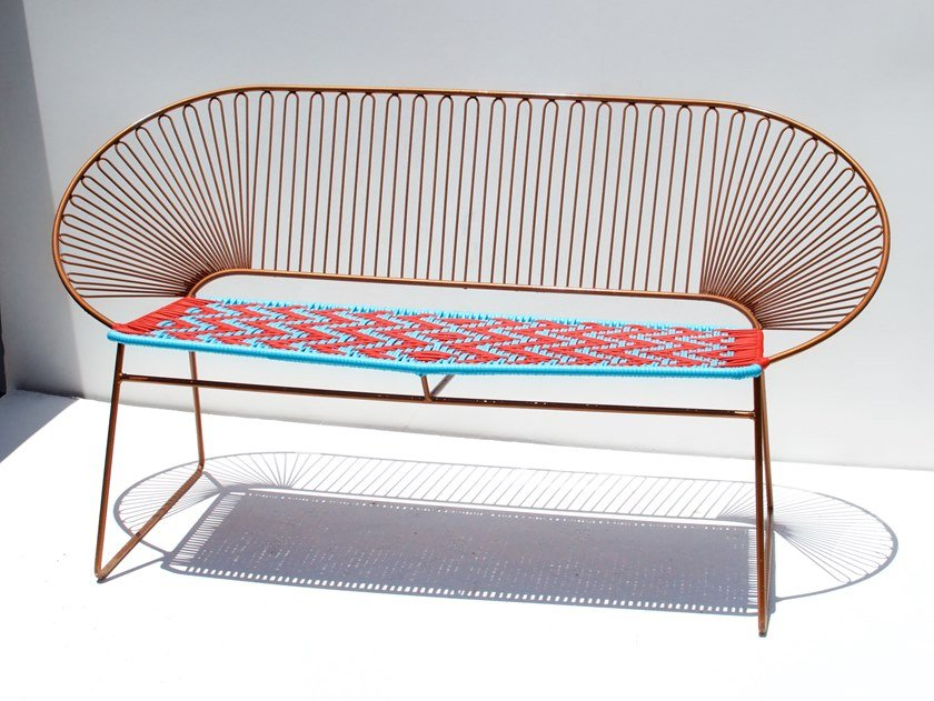 Steel And PVC Small Sofa PUROHIERRO II BENCH By Tucurinca
