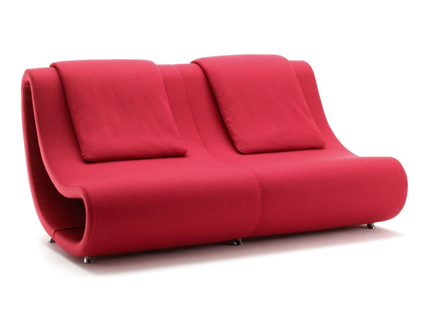 2 seater fabric sofa PUSH-OUT | Sofa by Mirabili