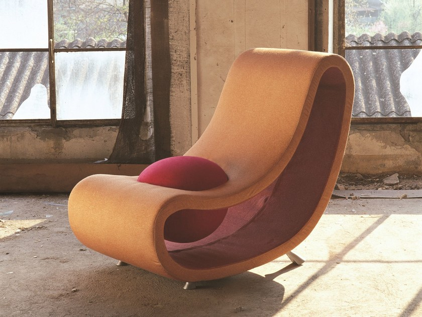 Upholstered fabric armchair PUSH-UP by Mirabili