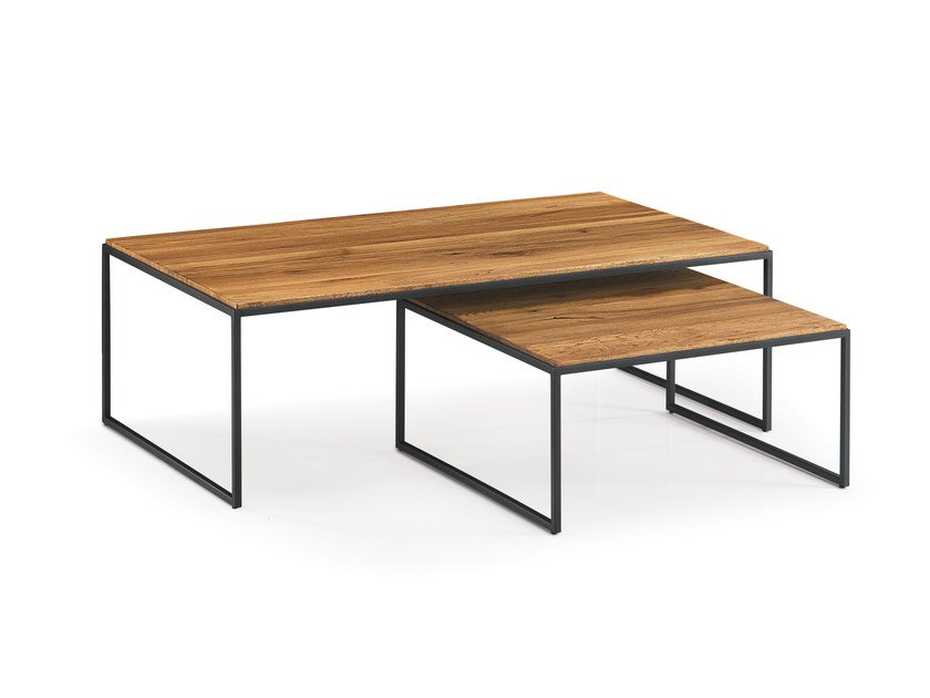 Rectangular wooden coffee table PUZZLE WILD | Coffee table by Oliver B.