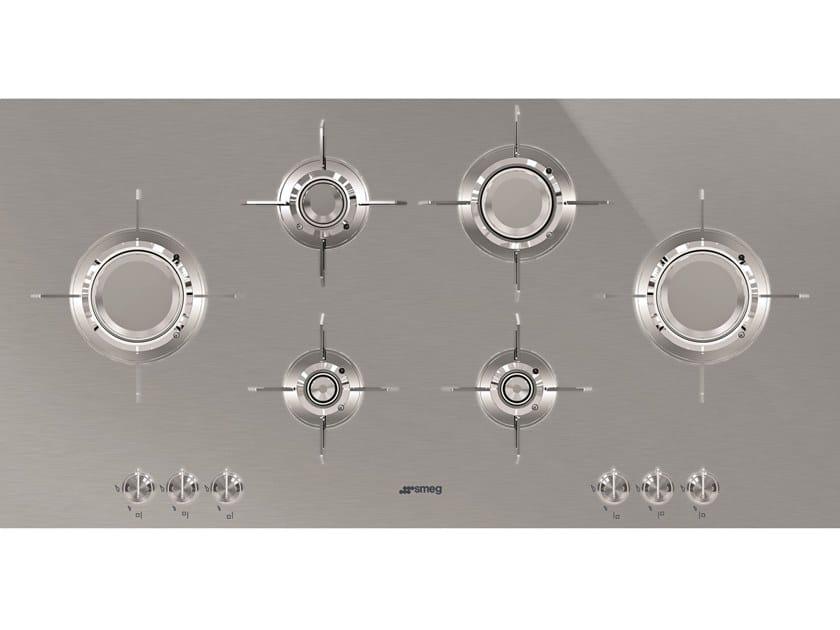 Piano cottura a gas in acciaio inox PXL6106 Collezione Dolce ...