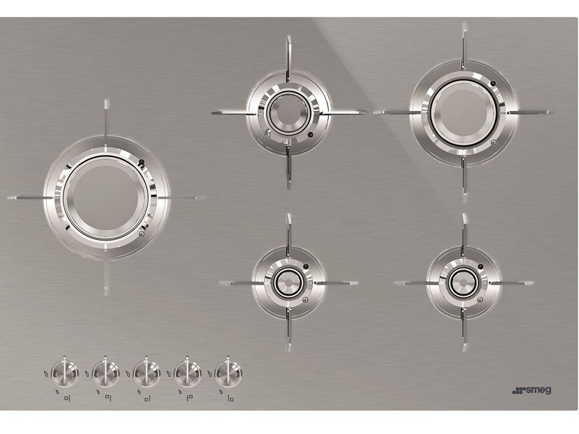 Gas stainless steel hob PXL675L by Smeg
