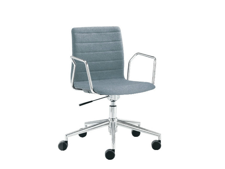 Chair with 5-spoke base with casters Q-2 | Chair with 5-spoke base by Sesta