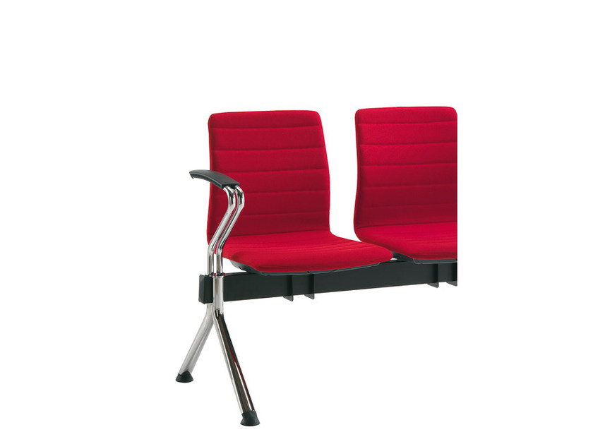 Fabric beam seating with armrests Q-2 | Fabric beam seating by Sesta