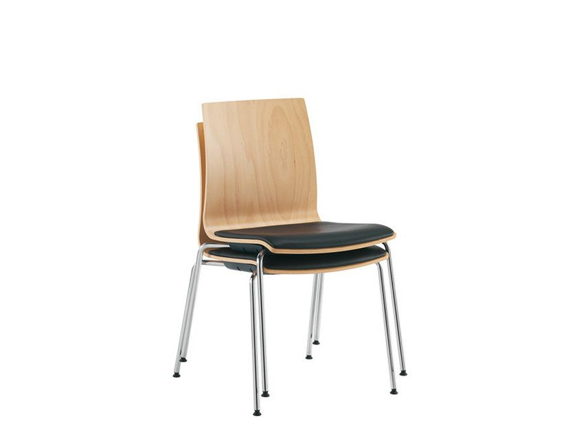 Stackable wooden training chair Q-2 | Stackable training chair by Sesta