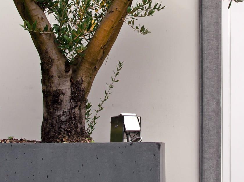 Proiettore per esterno orientabile in acciaio inox Q-BIC VD | Proiettore per esterno by ROYAL BOTANIA