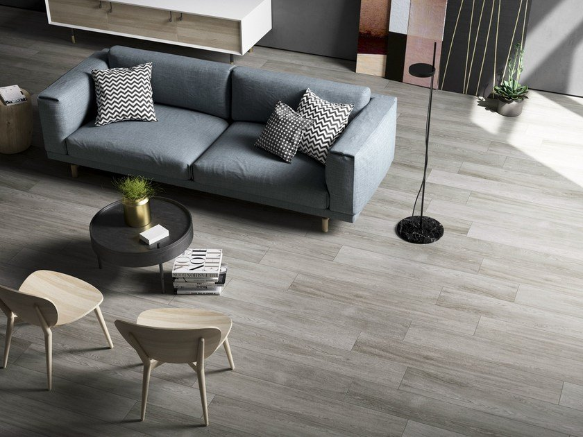 Porcelain stoneware flooring with wood effect Q-STYLE by Ceramica d'Imola