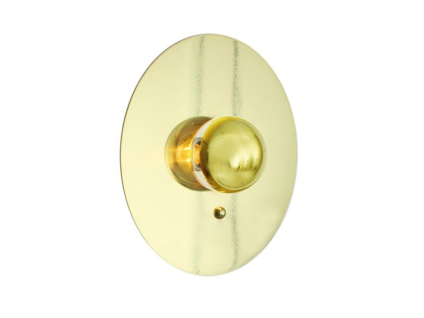 Indirect light handmade brass wall light QALA by Mullan Lighting