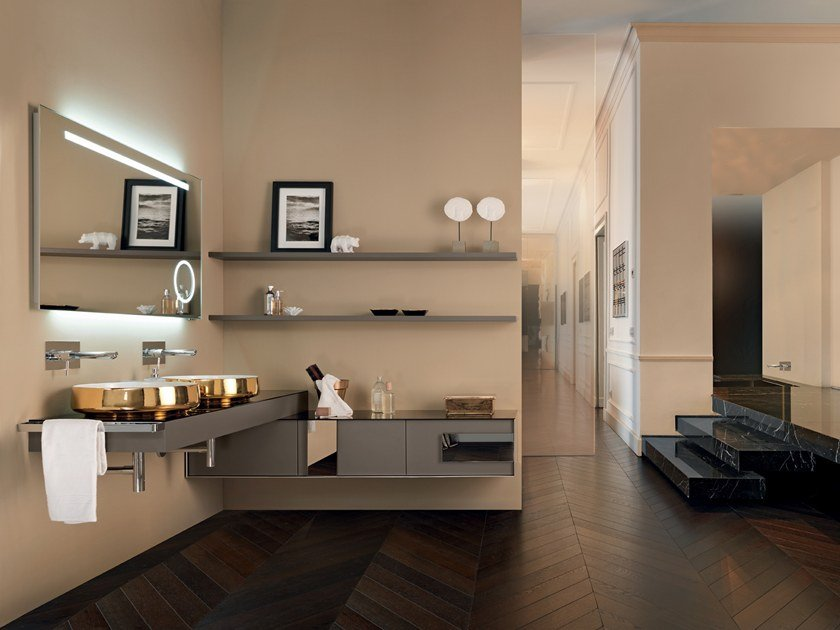 Sectional vanity unit QAMAR - Composizione 2 by INDA®