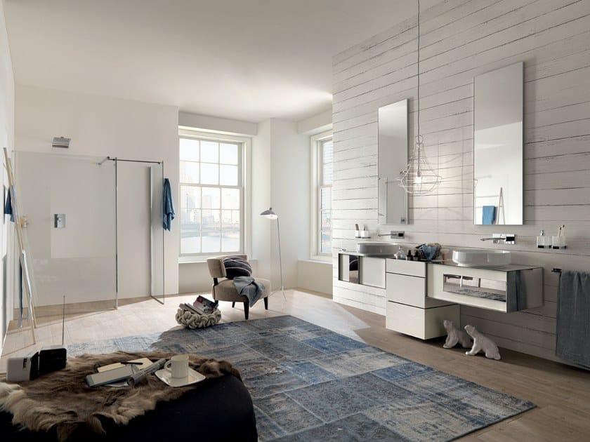 Sectional vanity unit QAMAR - Composizione 4 by INDA®