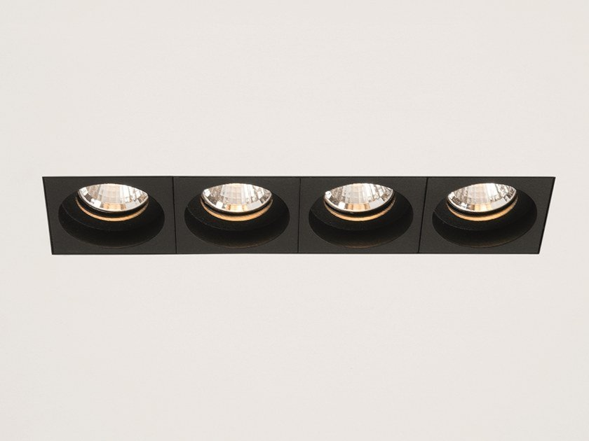 LED multiple recessed spotlight QBINI TRIMLESS ROUND IN by Modular Lighting Instruments