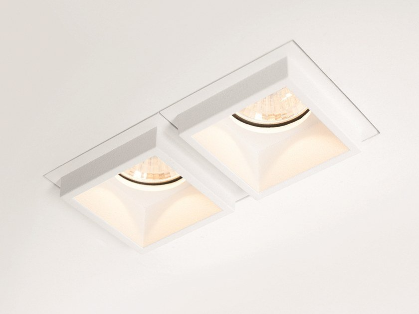 LED multiple recessed spotlight QBINI TRIMLESS SQUARE OUT by Modular Lighting Instruments