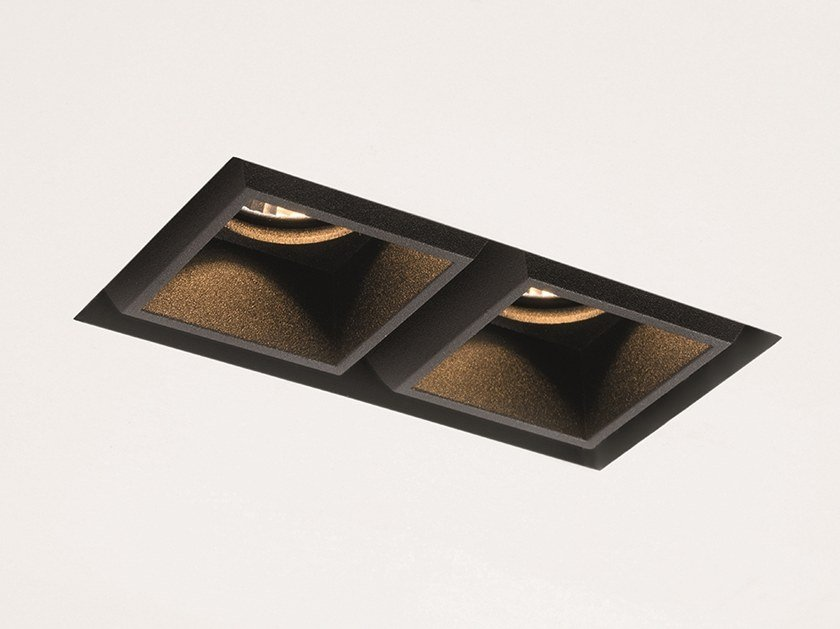 LED multiple recessed spotlight QBINI TRIMLESS SQUARE TAPERED by Modular Lighting Instruments
