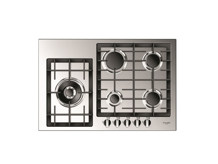 Gas stainless steel hob QH 765 G WK X | Gas hob by Fulgor Milano