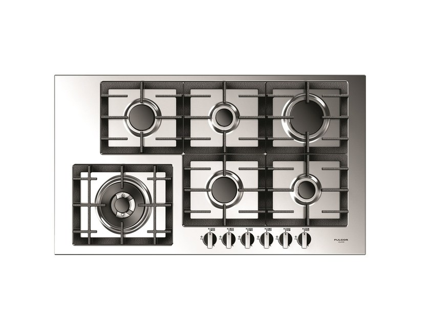 Gas stainless steel hob QH 906 G WK X | Gas hob by Fulgor Milano