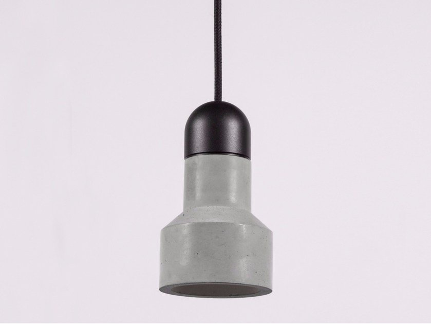 LED concrete pendant lamp QIE ALUMINIUM by Bentu Design