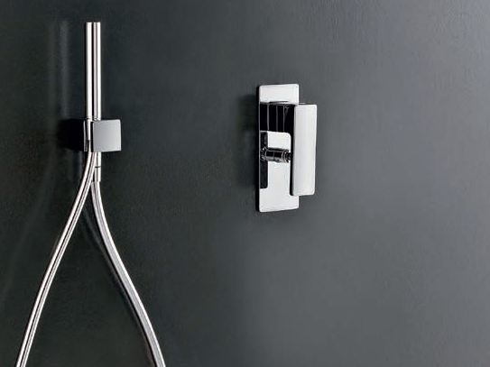 1 hole shower mixer with hand shower QQUADRO by ZAZZERI