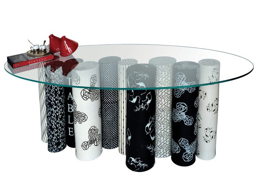 Crystal table QUA E LA' BIG by Made a Mano