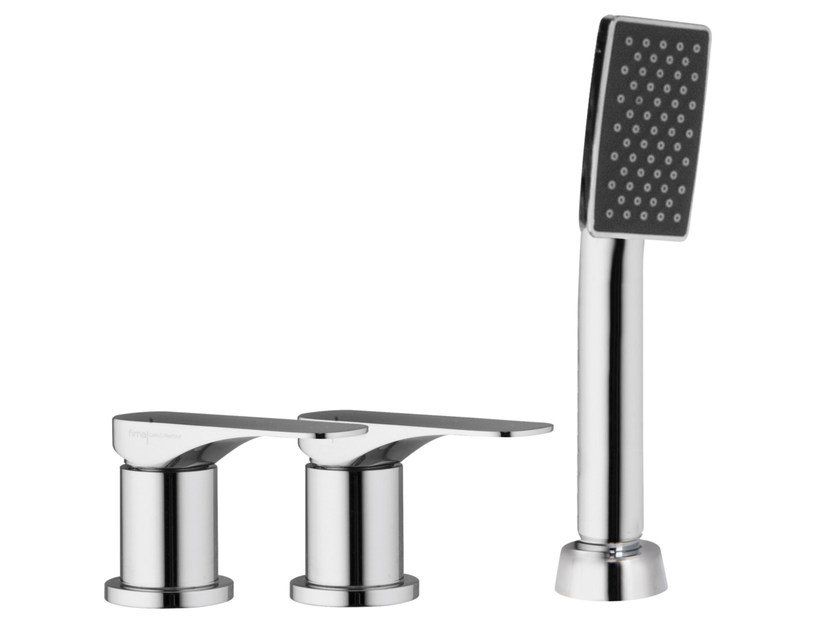 3 hole bathtub tap with hand shower QUAD F3734/1 | Bathtub tap by FIMA Carlo Frattini