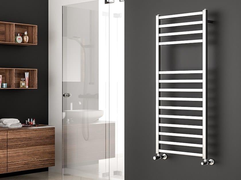 Vertical wall-mounted towel warmer QUADRA S 25 by XÒ by Metalform