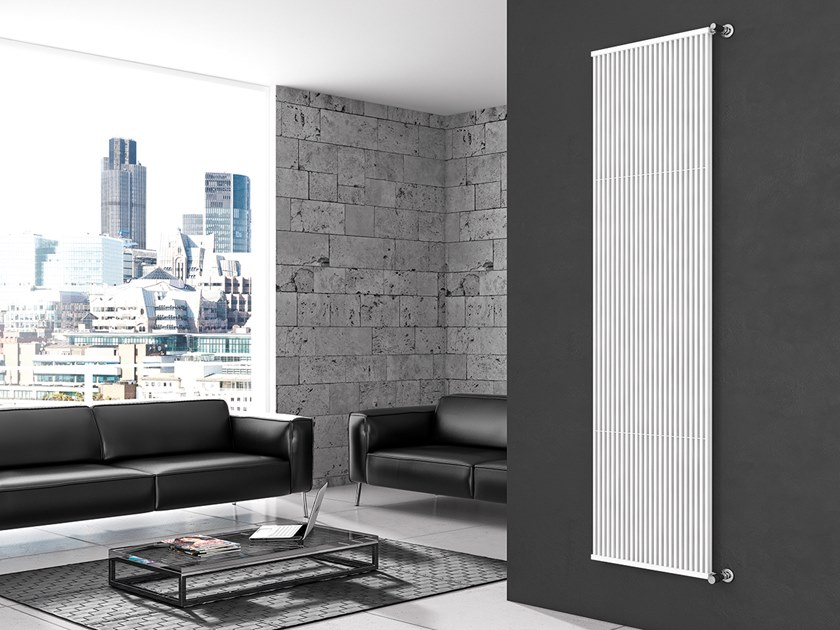 Vertical wall-mounted steel decorative radiator QUADRA T DOPPIO by XÒ by Metalform