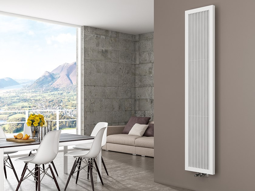 Vertical wall-mounted steel decorative radiator QUADRONE by XÒ by Metalform