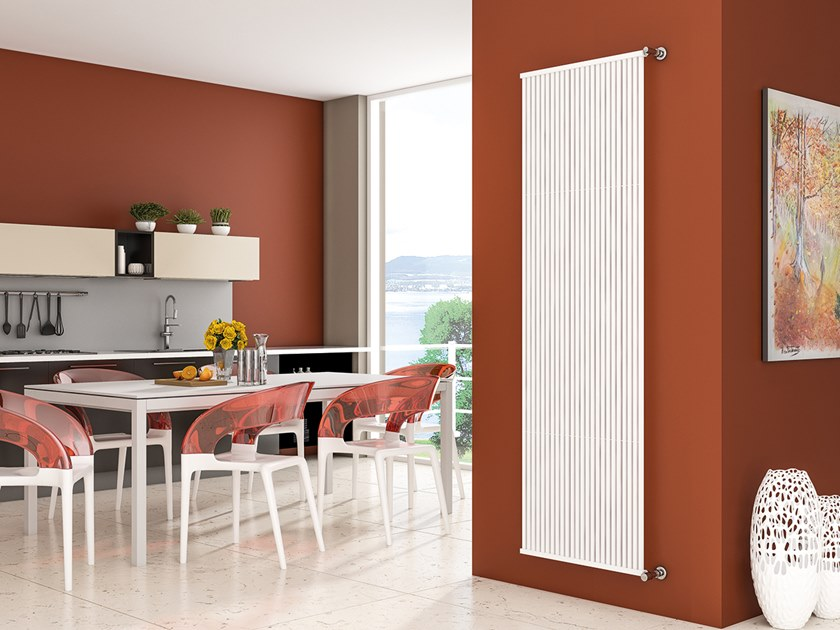 Vertical wall-mounted steel decorative radiator QUADRA T15 by XÒ by Metalform