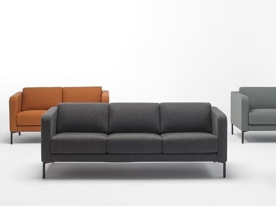 3 seater fabric sofa QUADRAT QS3P by delaoliva