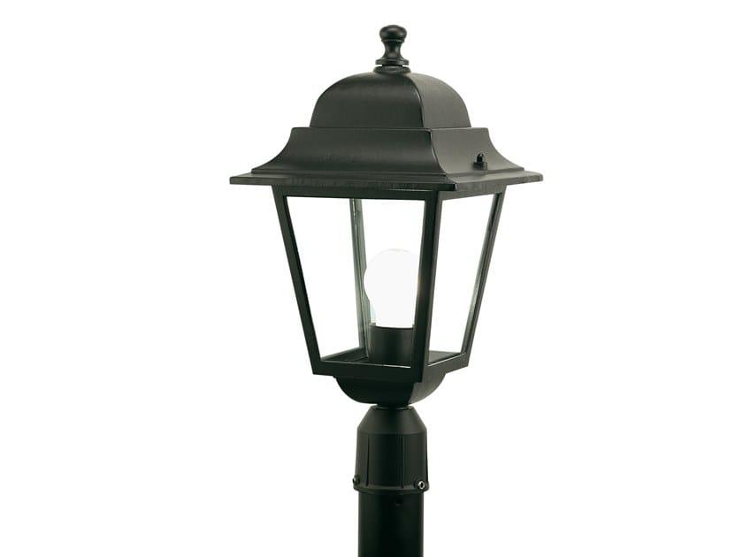 Lampione da giardino a lanterna in alluminio pressofuso QUADRATA 401 by SOVIL