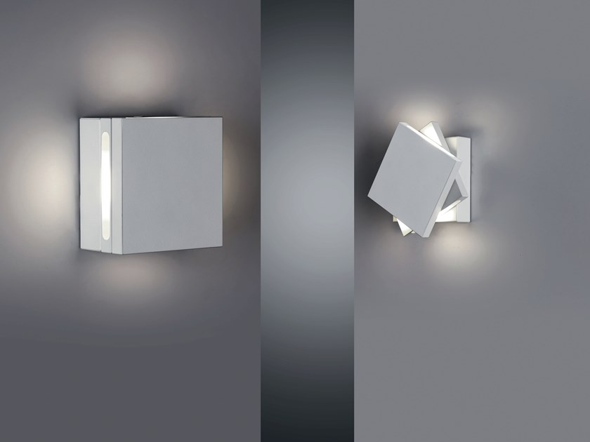 LED adjustable aluminium wall light QUADRETTO by Cattaneo