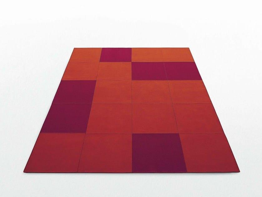 Rectangular felt rug QUADRI | Rectangular rug by paola lenti