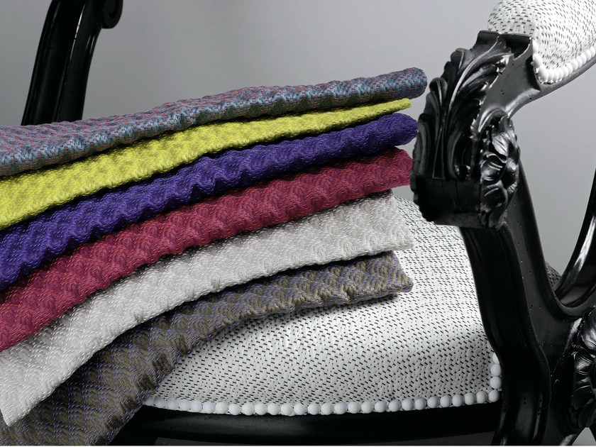 Jacquard cotton fabric QUADRILLE by Élitis